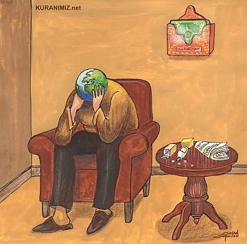 DEPRESYON VE ÇÖZÜMÜ (Kur'an konulu karikatür)