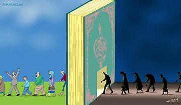 KİTAP VE İNSANLAR (Kur'an konulu karikatür)