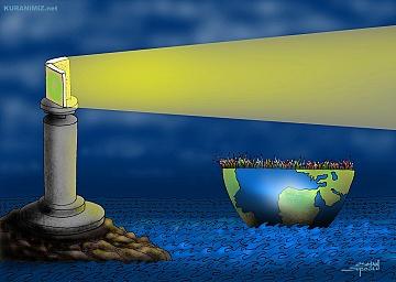 DENİZ FENERİ (Kur'an konulu karikatür)